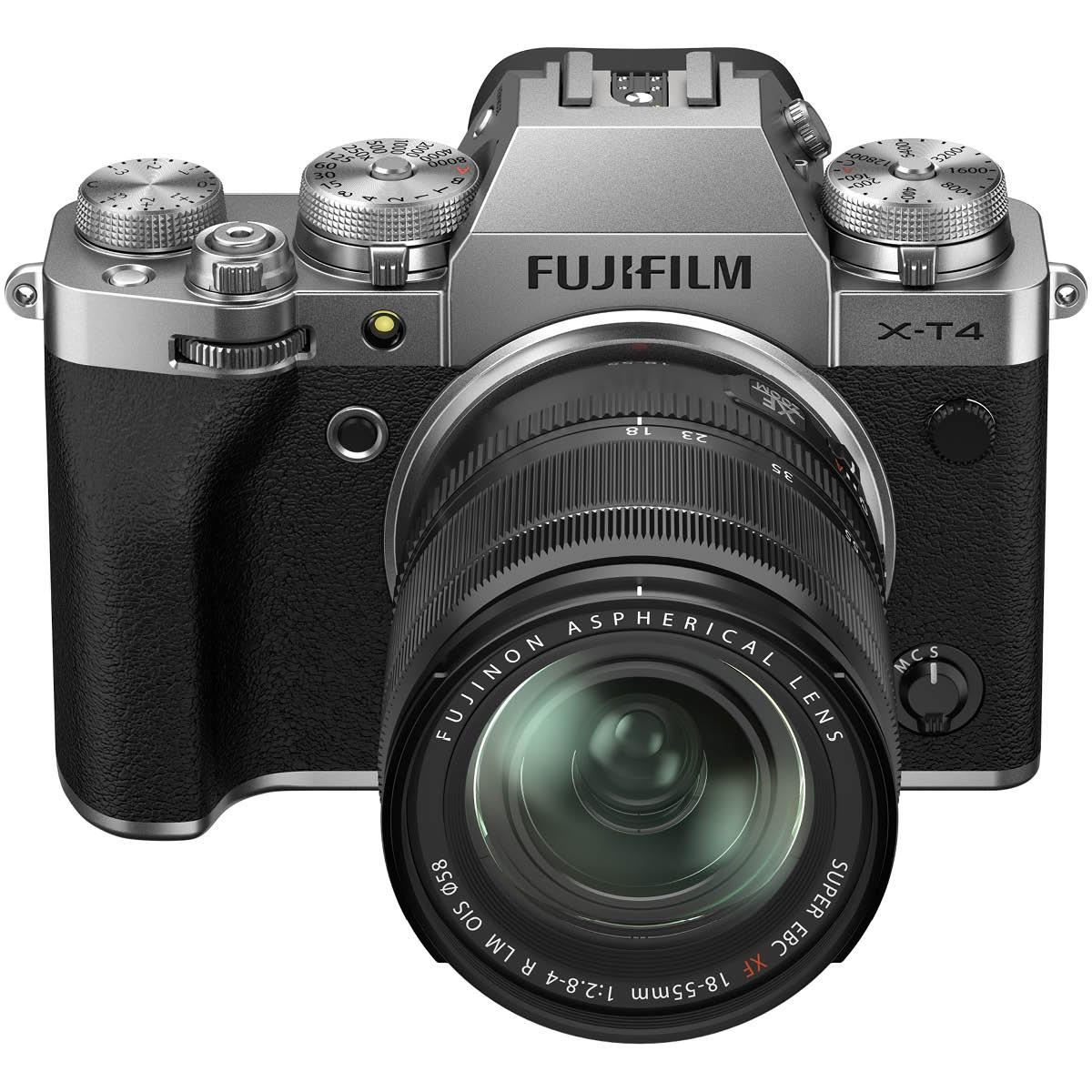 Fujifilm X-T4 Kit mit 18-55 mm 1:2,8-4 Silber