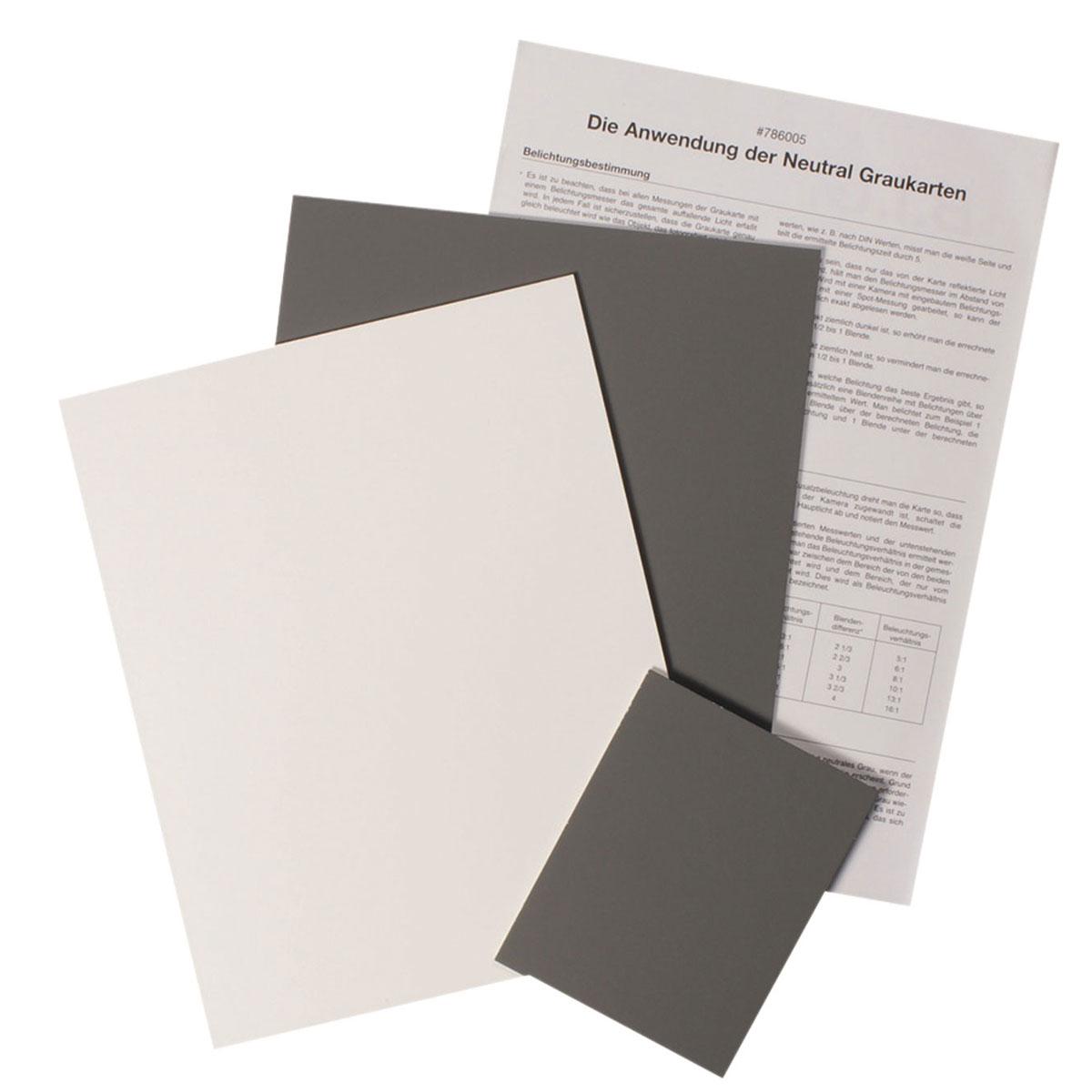 B.I.G. Graukarten-Set 3St. (2x 20x25 cm+1x 10x12 cm)
