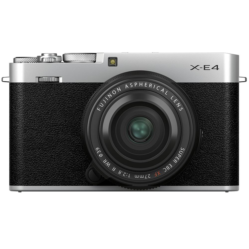 Fujifilm X-E4 Kit mit 27 mm 1:2,8 XF WR Silber