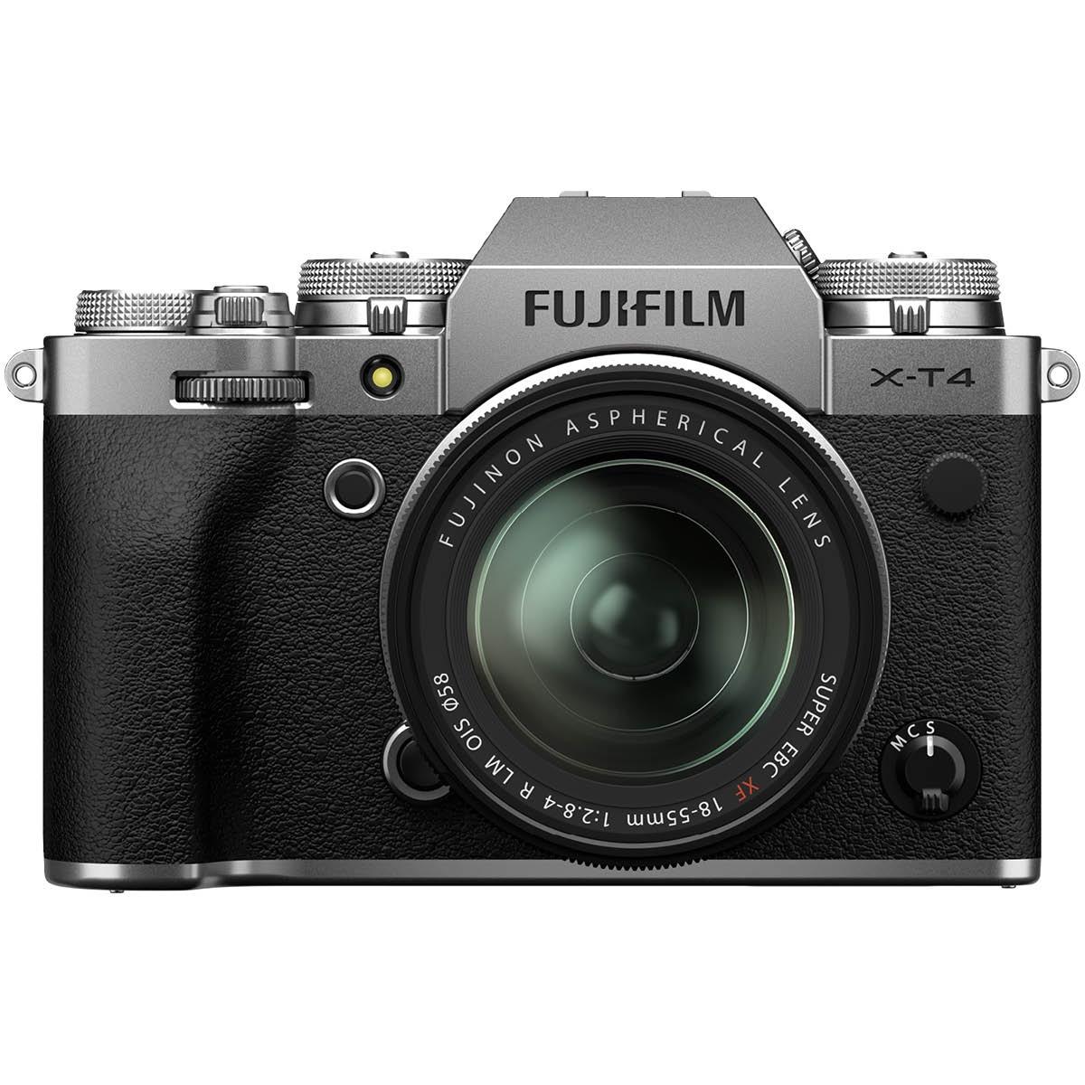 Fujifilm X T4 Kit mit 18-55 mm 1:2,8-4 Silber