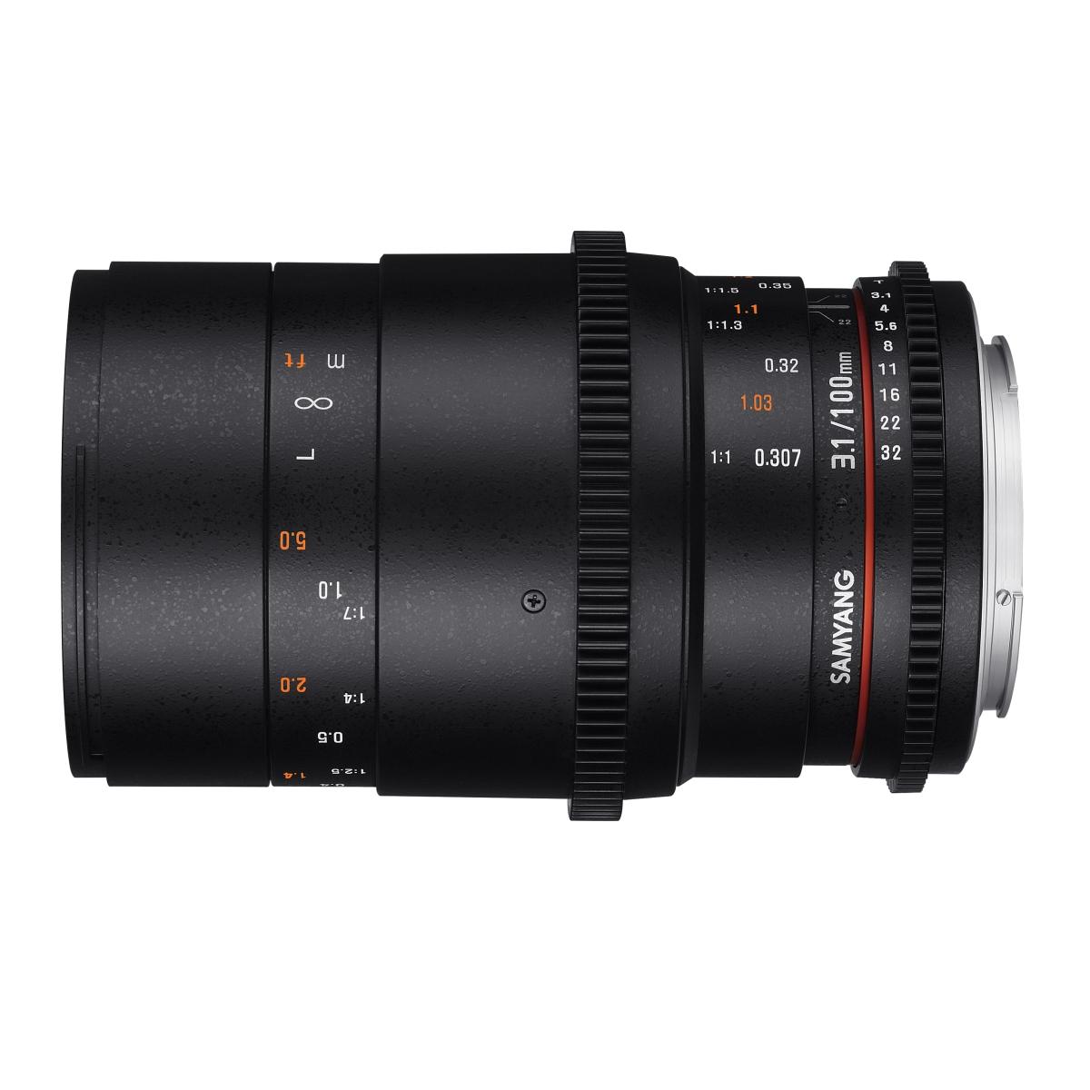 Samyang MF 100 mm 1:3,1 Makro Video DSLR für Nikon F