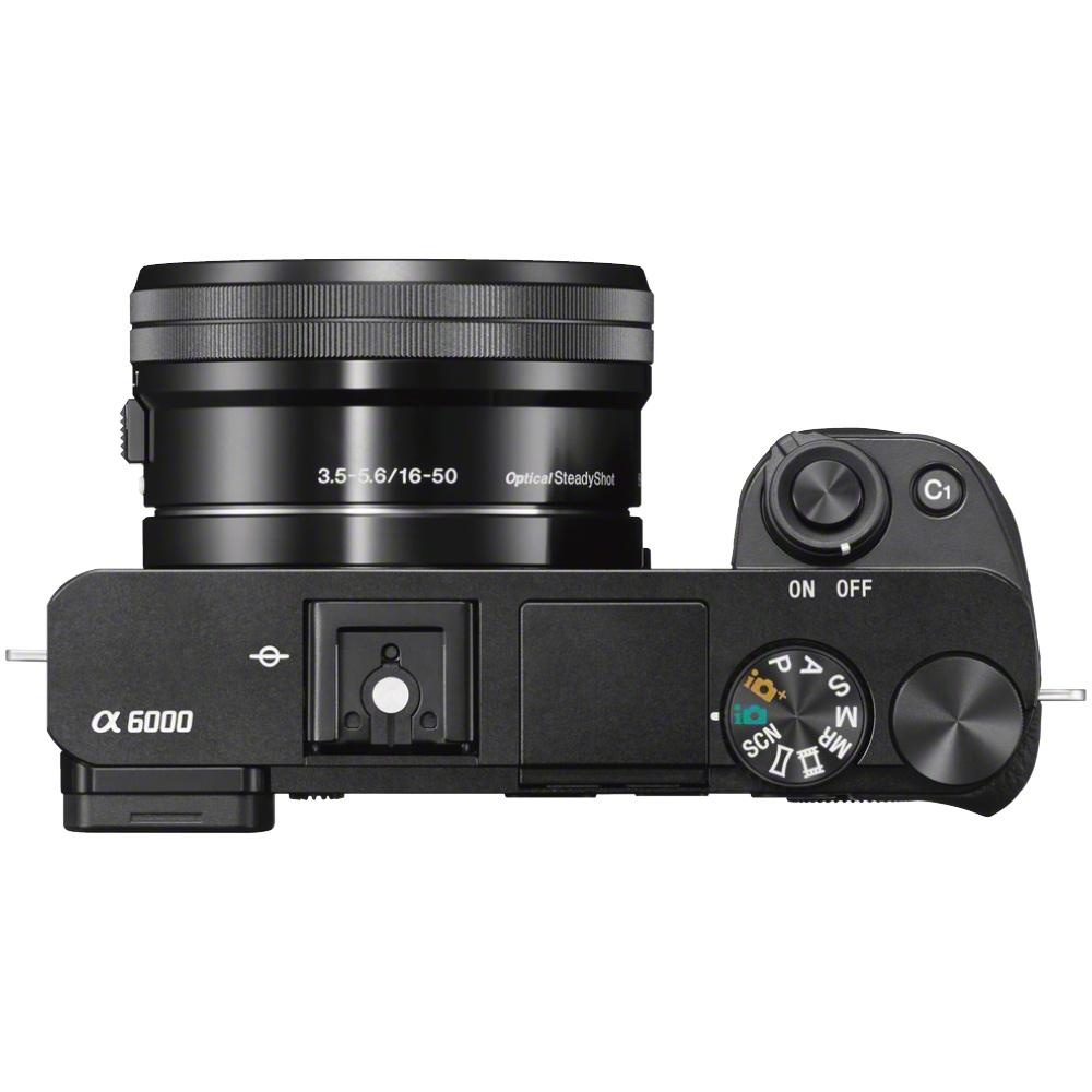 Sony Alpha 6000 Kit mit 16-50 mm 1:3,5-5,6 Schwarz