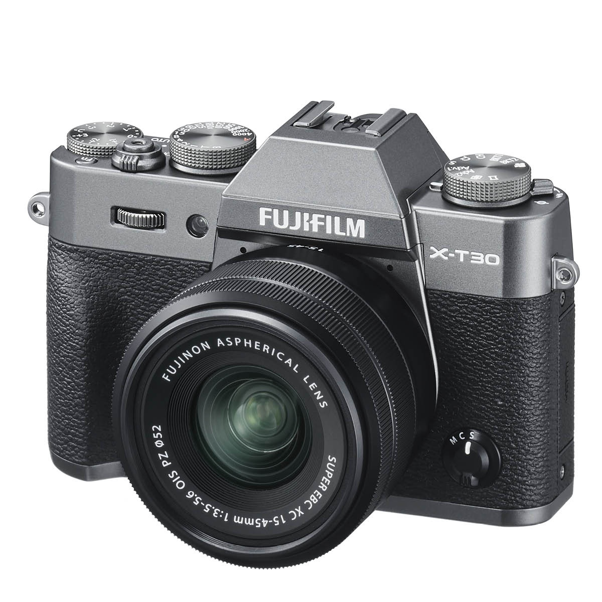 Fujifilm X T30 Kit mit 15-45 mm 1:3,5-5,6 Anthrazit