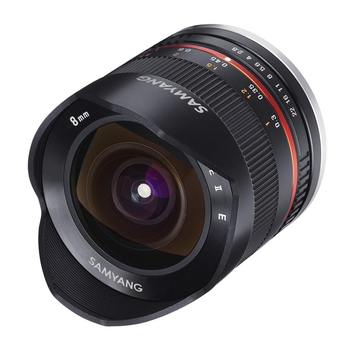 Samyang MF 8 mm 1:2,8 Fisheye II für Fujifilm XF Schwarz