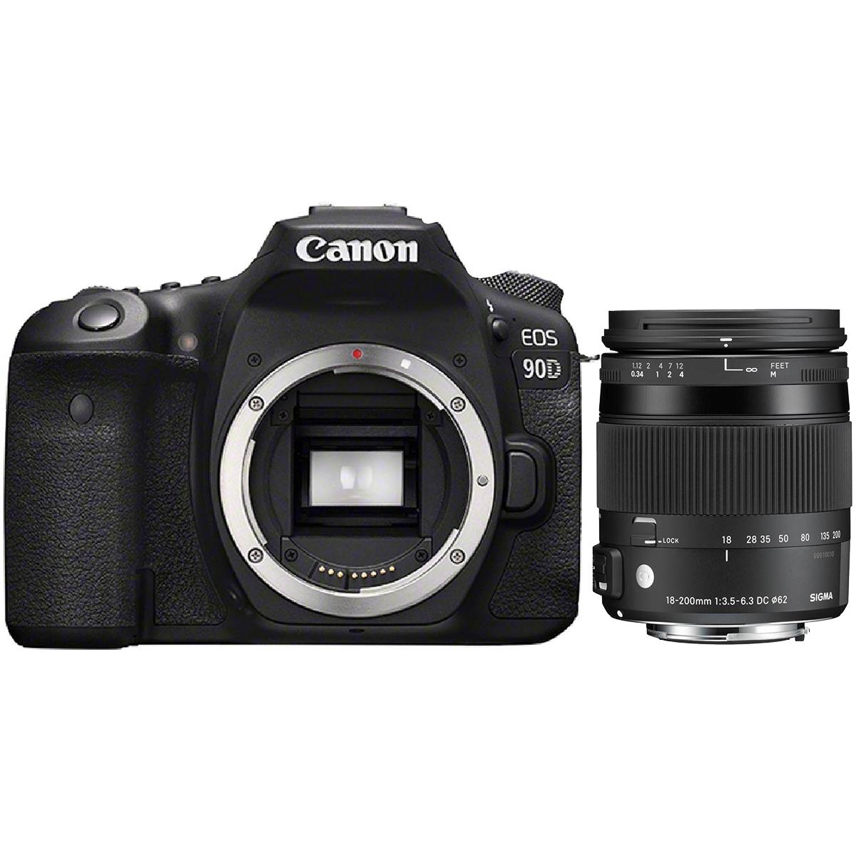Canon EOS 90D + AF Sigma 18-200mm 3,5-6,3 DC Makro OS HSM C