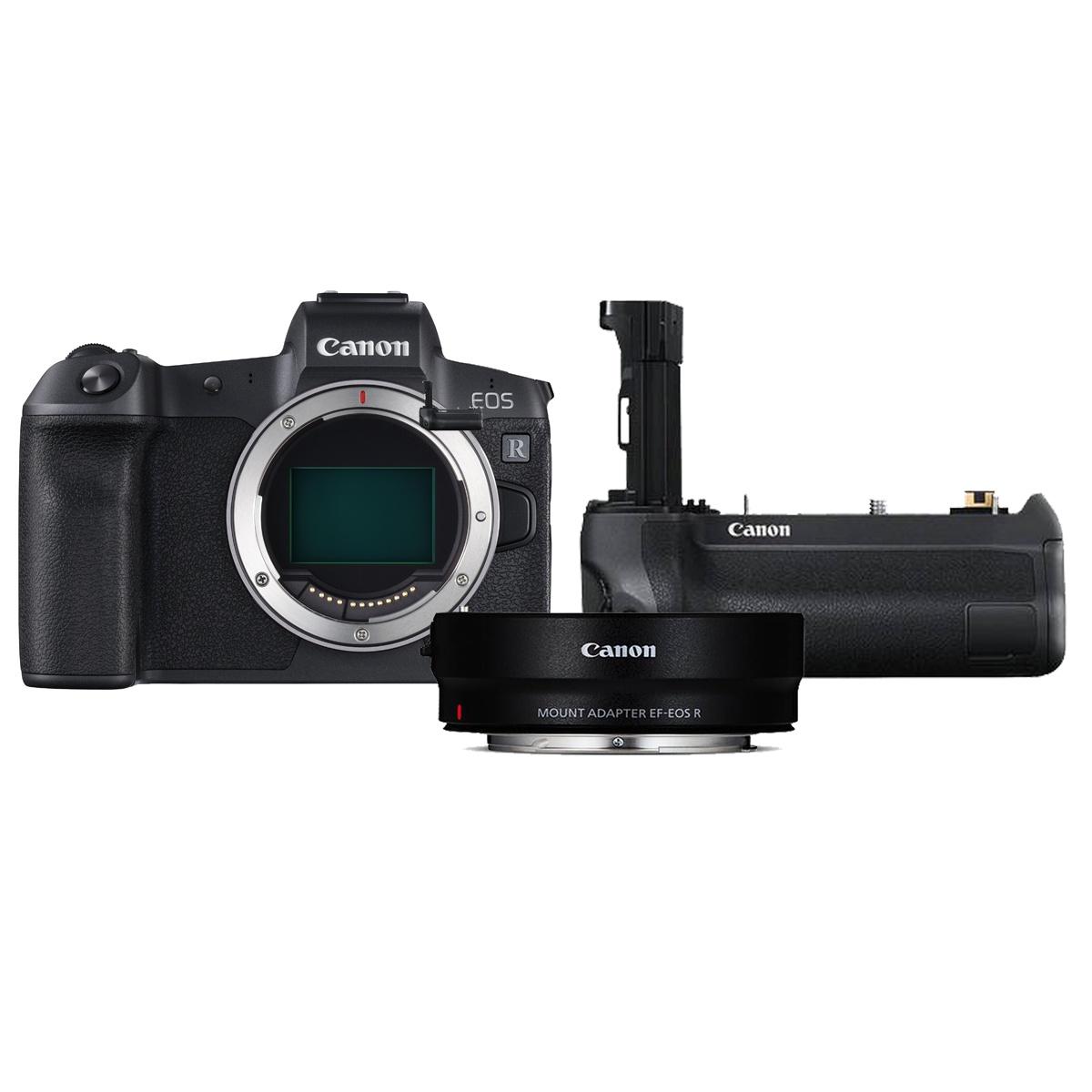 Canon EOS R Kit mit EF-EOS R-Adapter + BG-E22 Handgriff