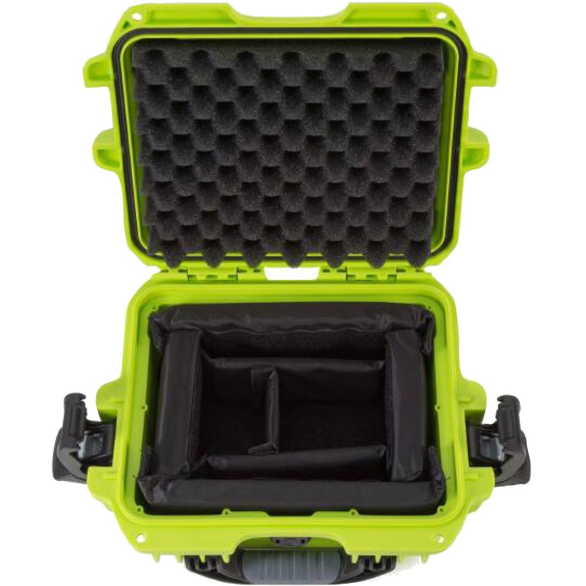 Nanuk Koffer 905 mit Trennwänden Limone
