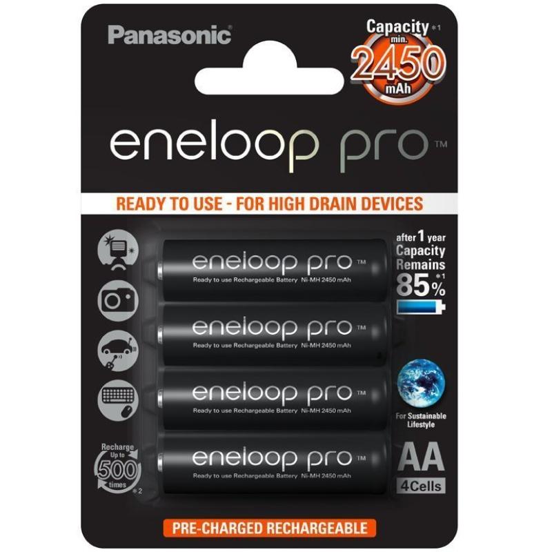 Panasonic Eneloop Pro AA 2450mAh 4er Akkus