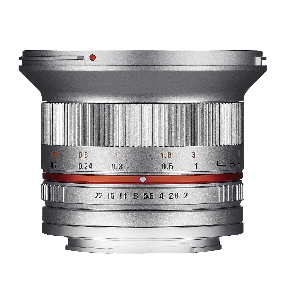 Samyang MF 12 mm 1:2,0 für Sony E Silber