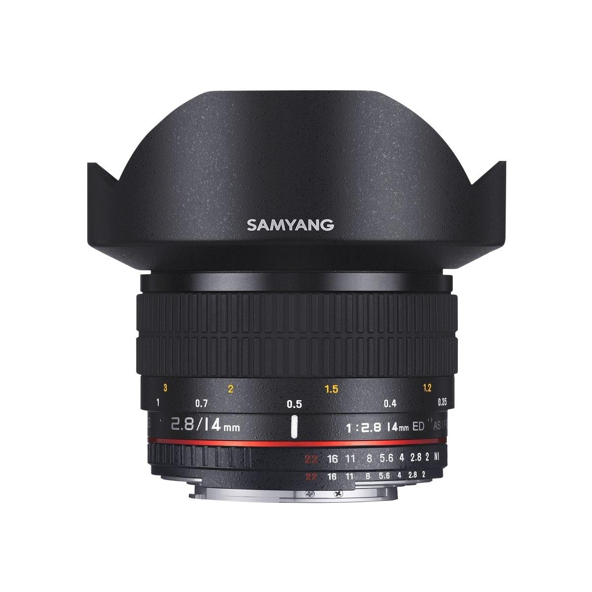 Samyang 14 mm 1:2,8 AE DSLR für Canon EF