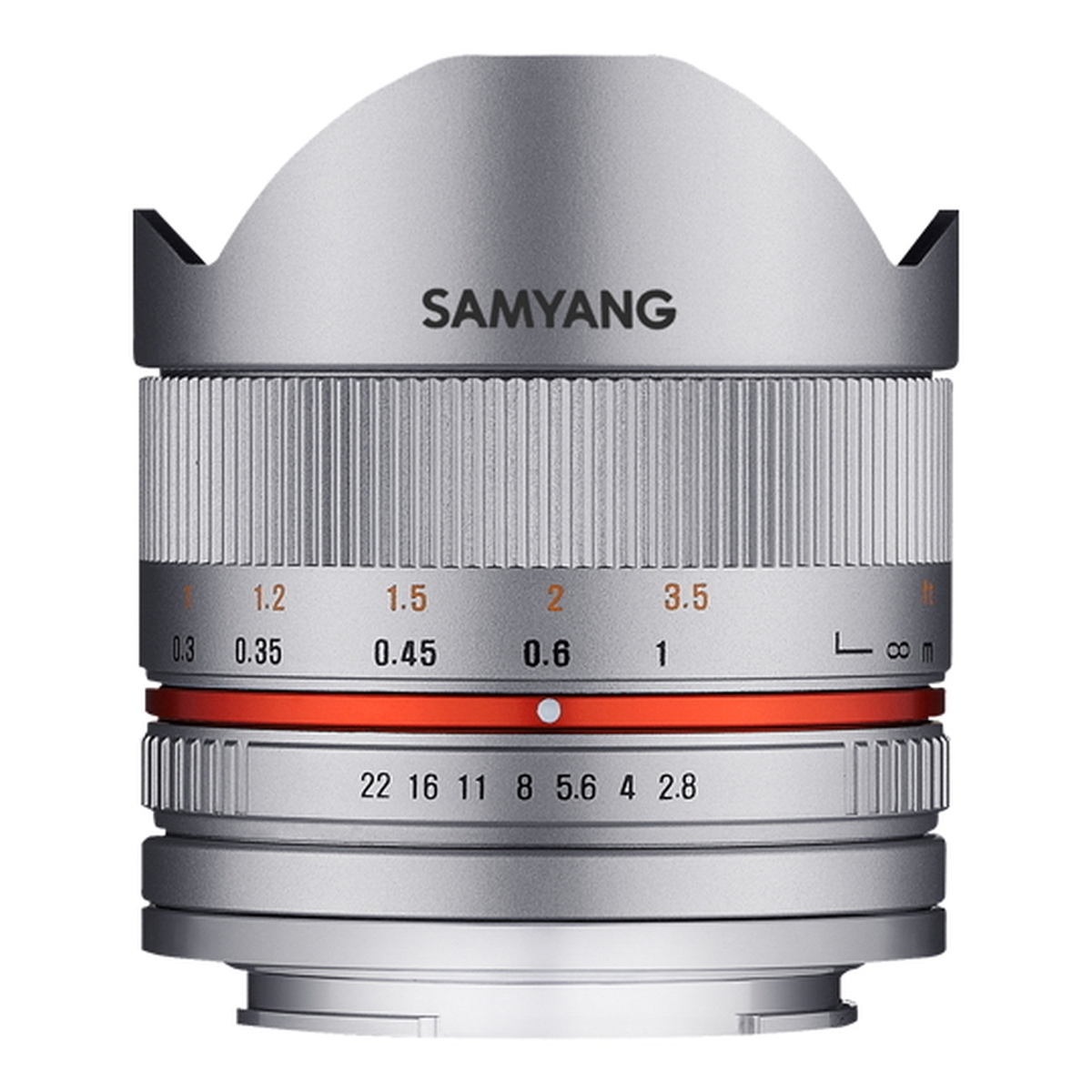 Samyang 8 mm 1:2,8 UMC Fisheye II für Sony E Silber