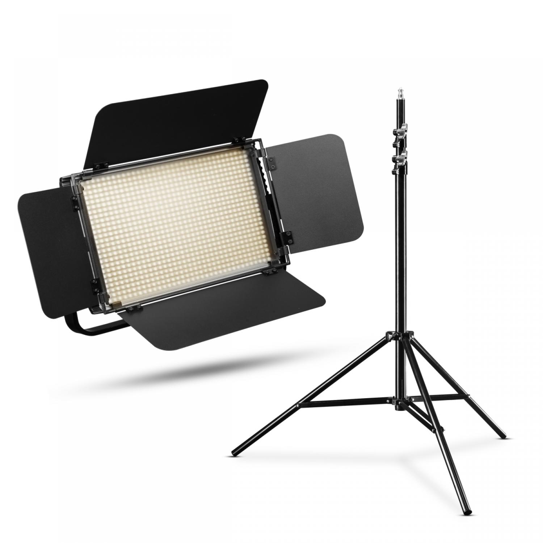 Walimex Pro LED Niova 900 Plus Bicolor Set mit Lampenstativ