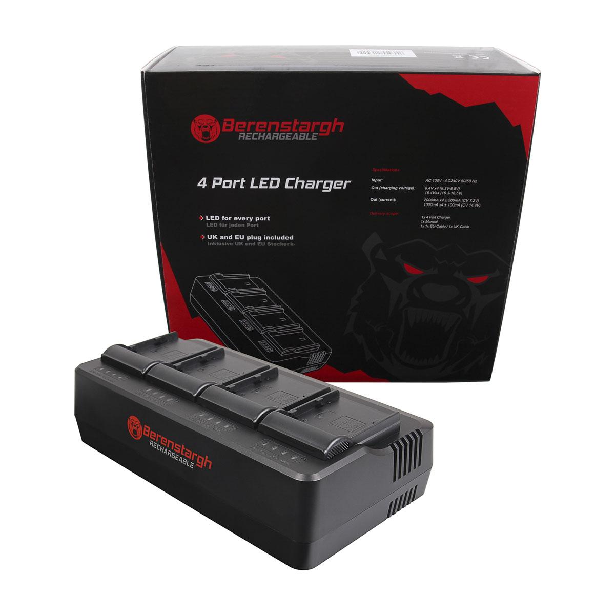 Berenstargh 4-Fach Ladegerät für Canon BP-A60