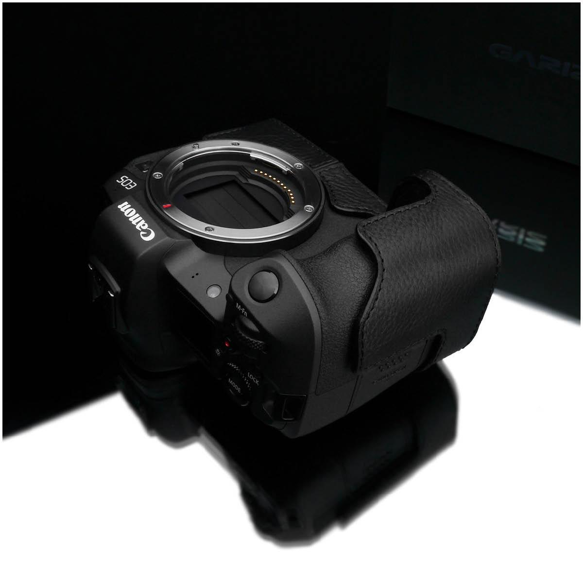 Gariz Leder Halbtasche für Canon EOS R Schwarz