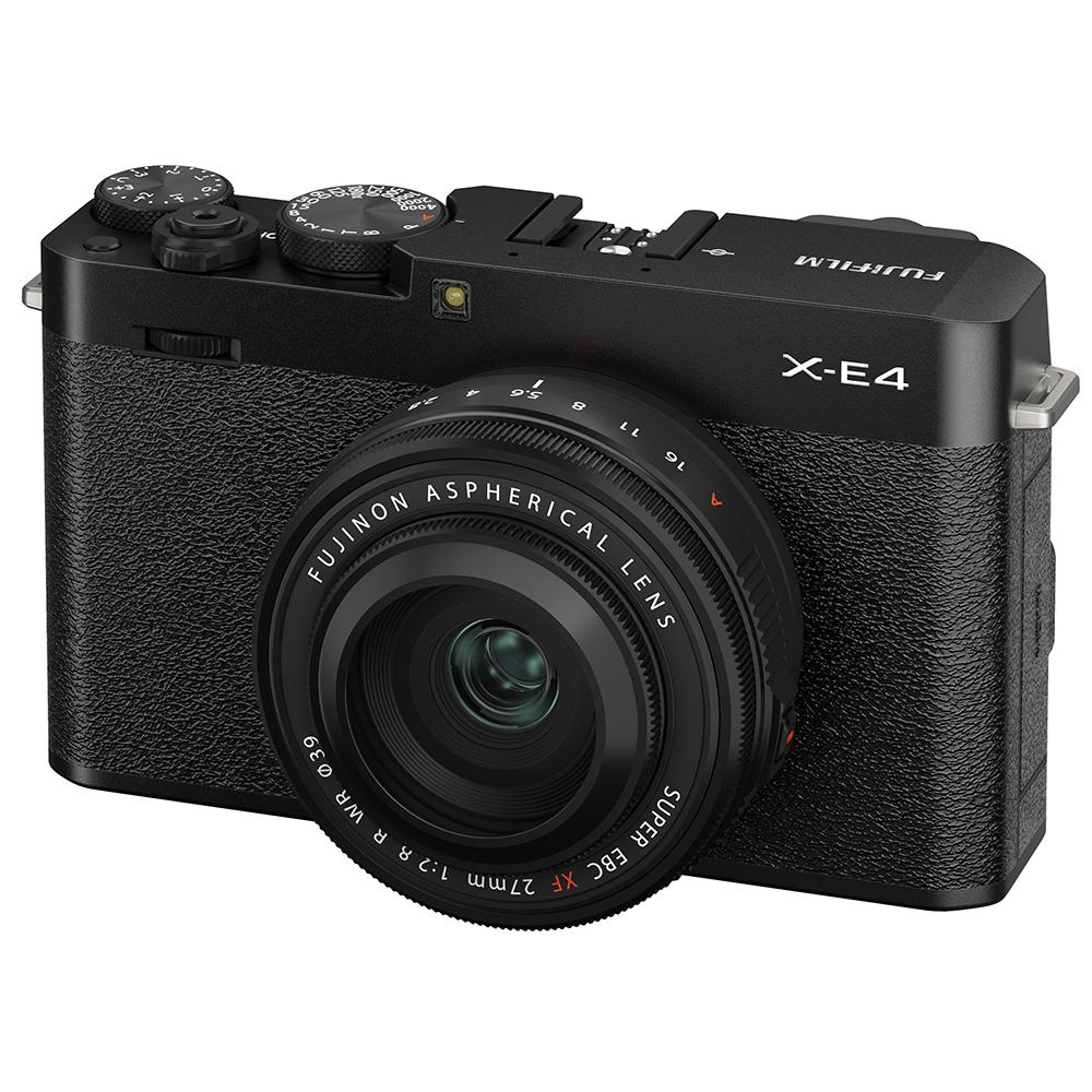 Fujifilm X-E4 Kit mit 27 mm 1:2,8 XF WR Schwarz