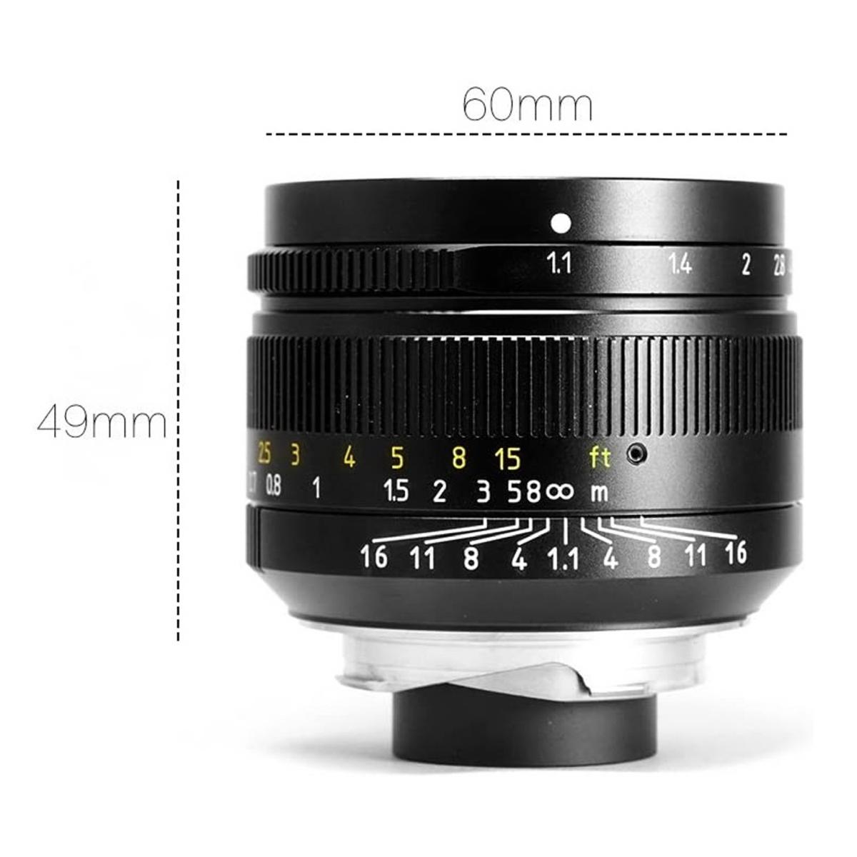 7Artisans 50 mm 1:1,1 für Leica M