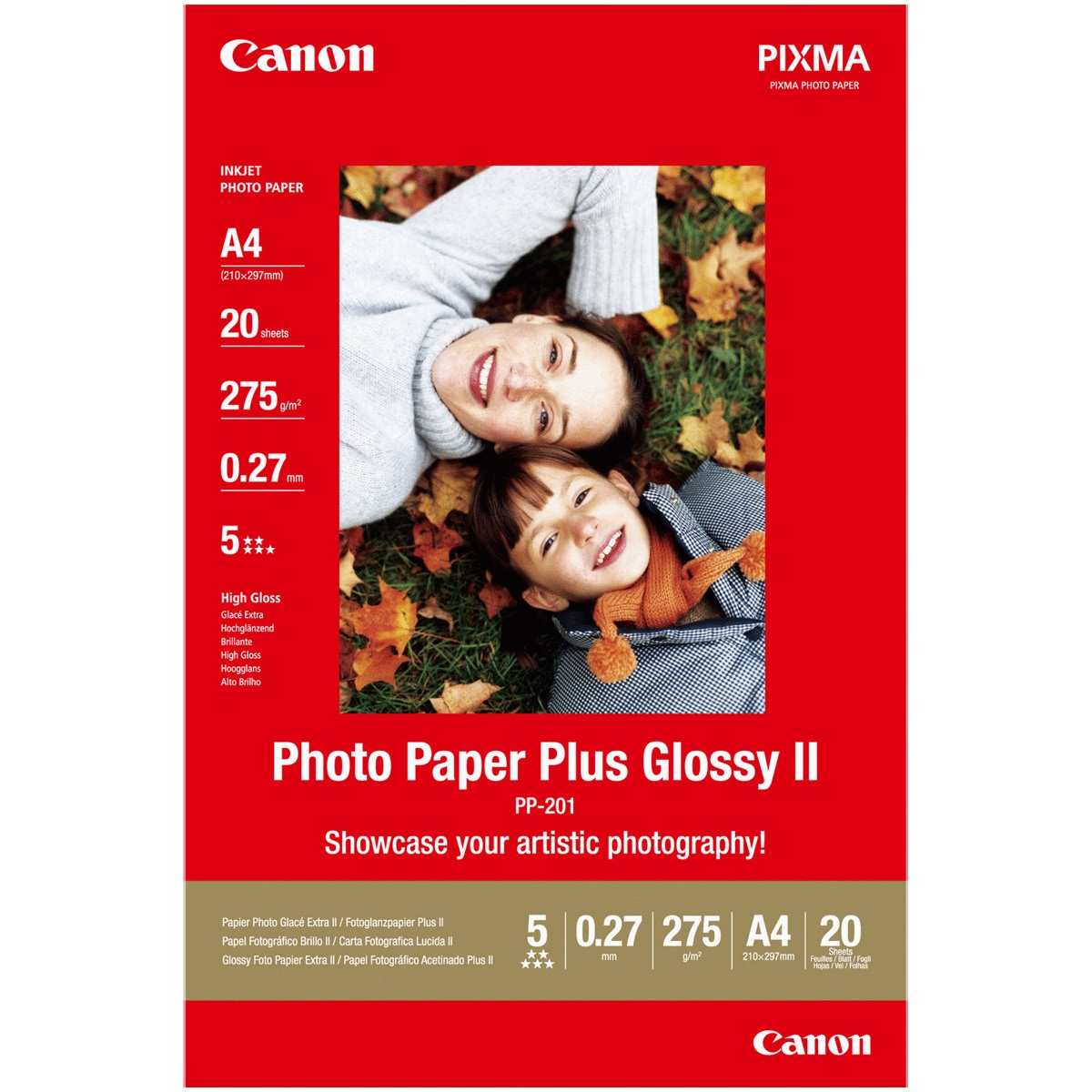 Canon PP-201 Glanzpapier A4 20 Blatt