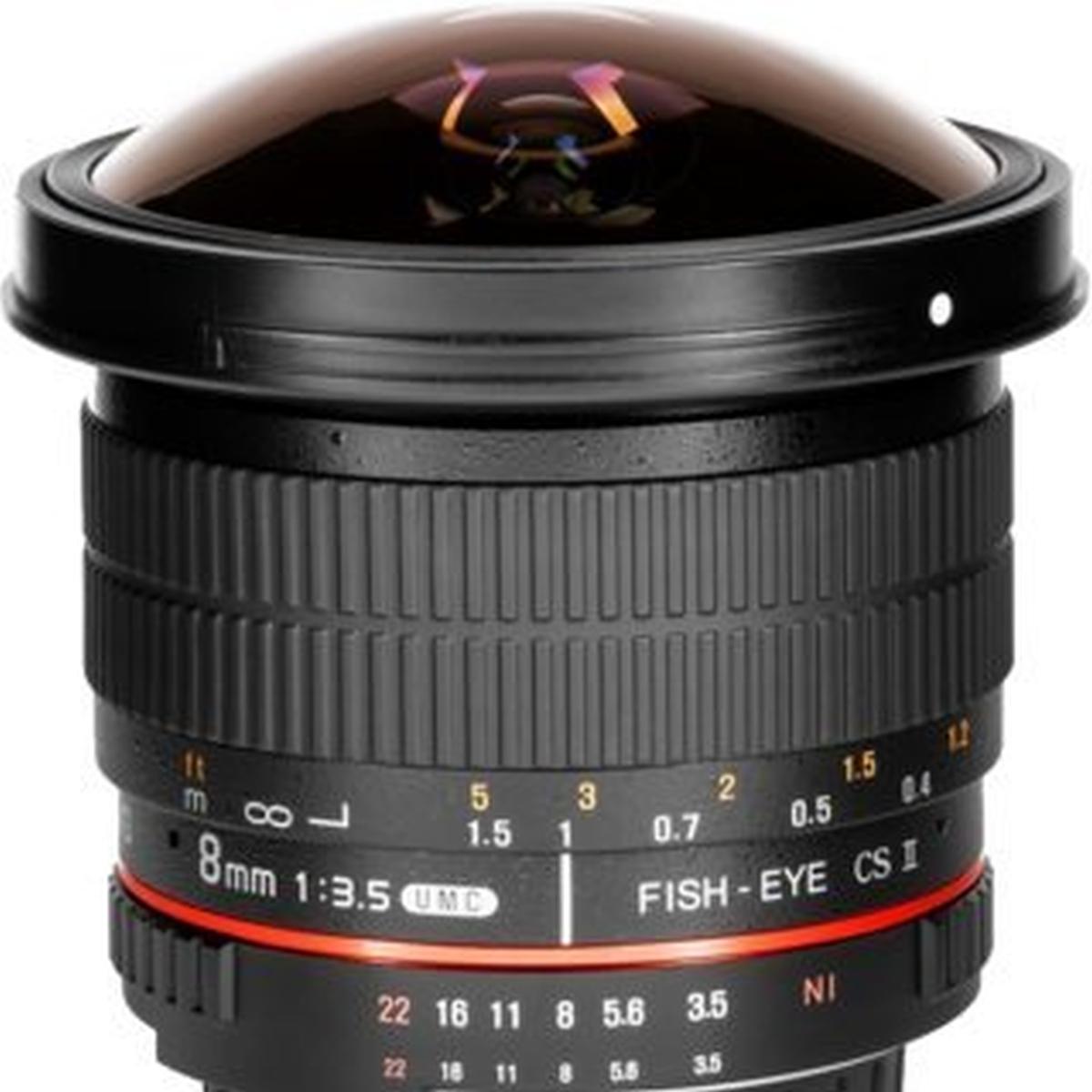 Samyang 8 mm 1:3,5 Fisheye CS II für Nikon
