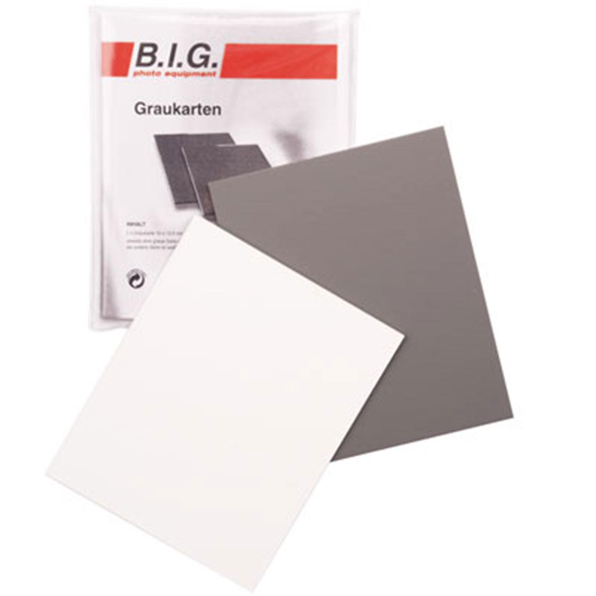 B.I.G. Graukarten-Set 2St. (2x 10x12 cm)