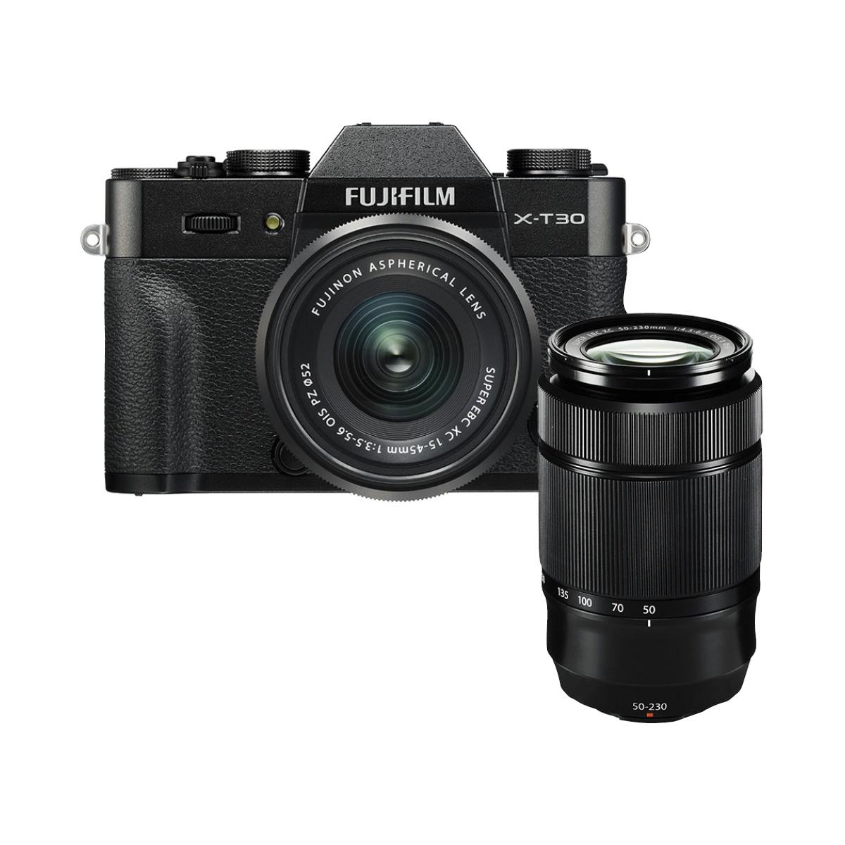 Fujifilm X-T30 Kit mit 15-45 mm + 50-230 mm II Schwarz