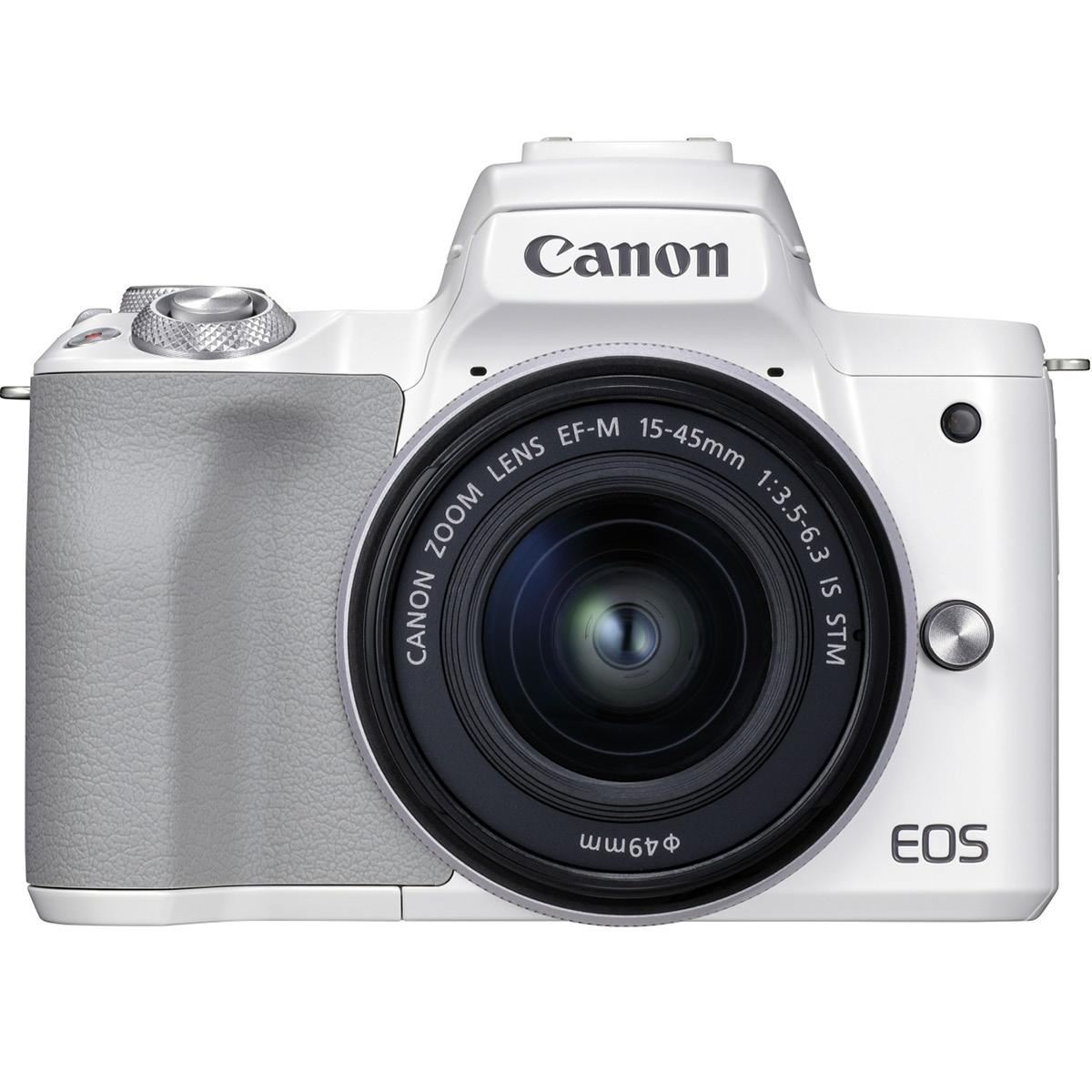 Canon EOS M50 II Kit mit 15-45 mm 1:3,5-6,3 weiß
