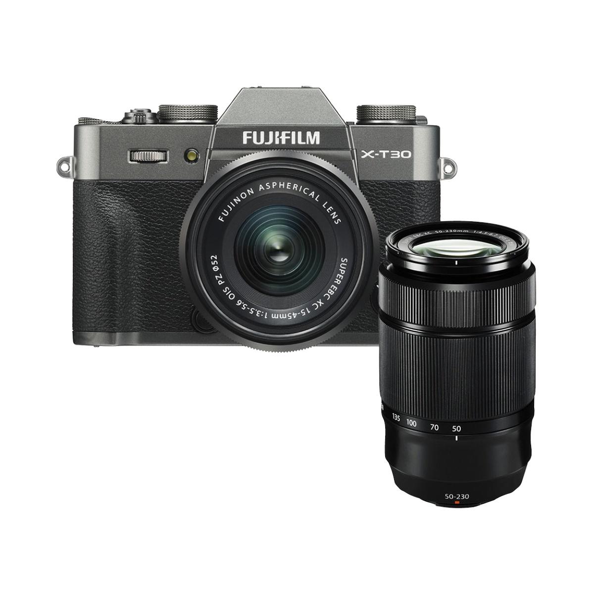 Fujifilm X-T30 Kit mit 15-45 mm + 50-230 mm II Anthrazit