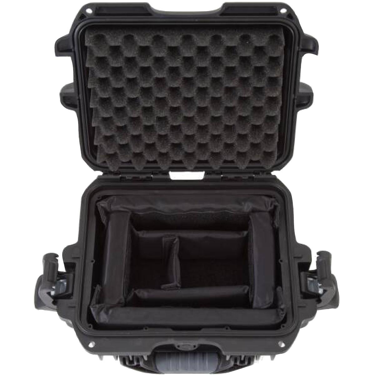 Nanuk Koffer 905 mit Trennwänden Schwarz