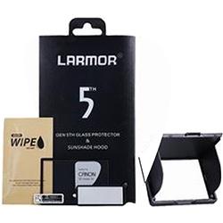Larmor Schutzglas für Nikon D850 mit Blende