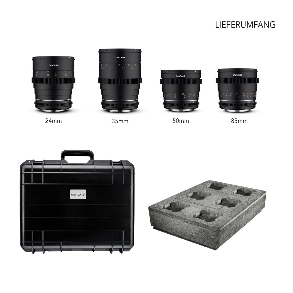 Samyang VDSLR MK2 Kofferset Canon EF