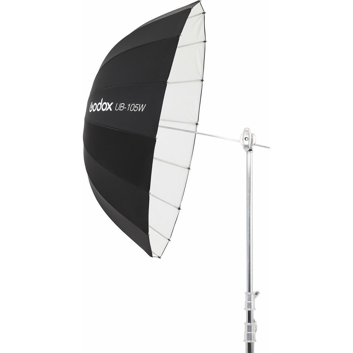 Godox 105 cm Parabolschirm Schwarz / Weiß UB-105W