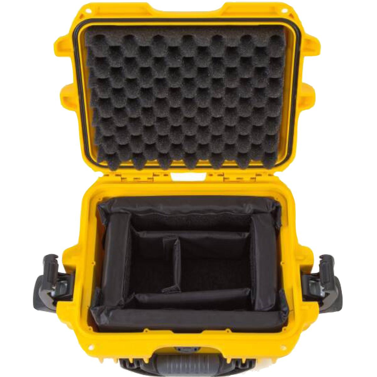 Nanuk Koffer 905 mit Trennwänden Gelb