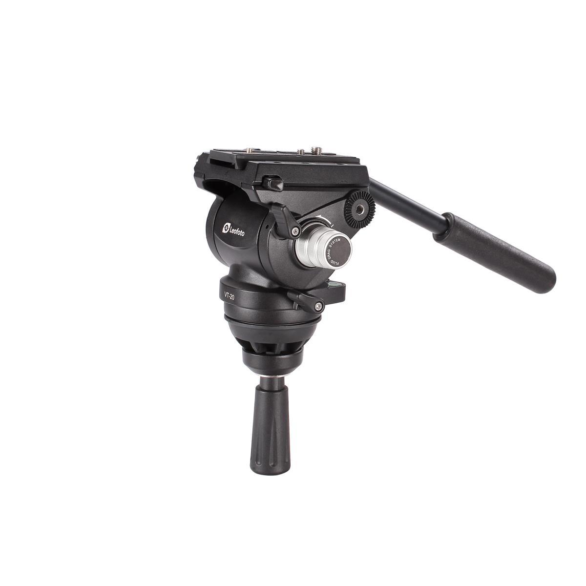 Leofoto Fluid-Videokopf VT-20 mit Halbkugel 80 mm