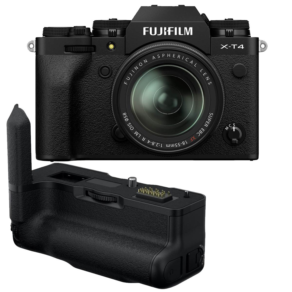 Fujifilm X-T4 Kit mit 18-55 mm 1:2,8-4 + VG-XT4 Handgriff