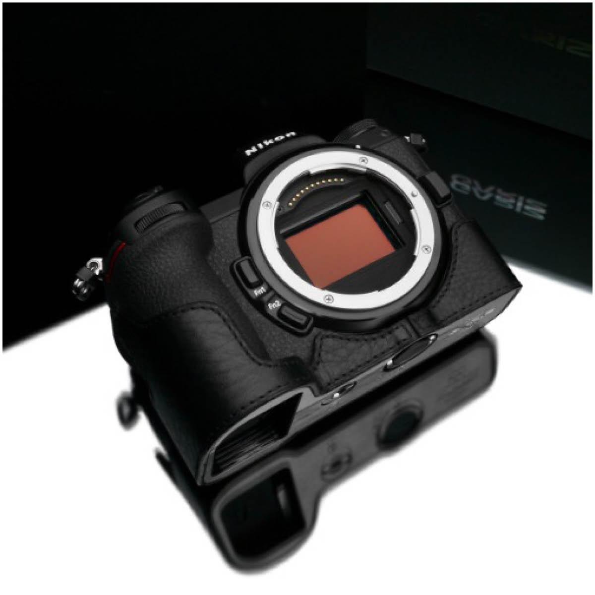 Gariz Leder Halbtasche für Nikon Z6 und Z7 Schwarz
