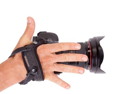Spider Leder Handschlaufe Schwarz V2