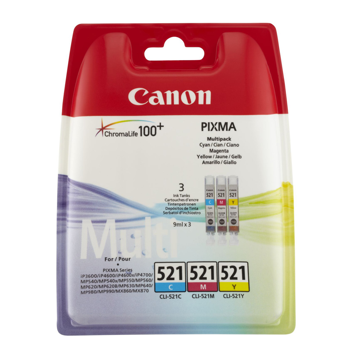Canon CLI-521 C-M-Y Tintenpatrone Multipack