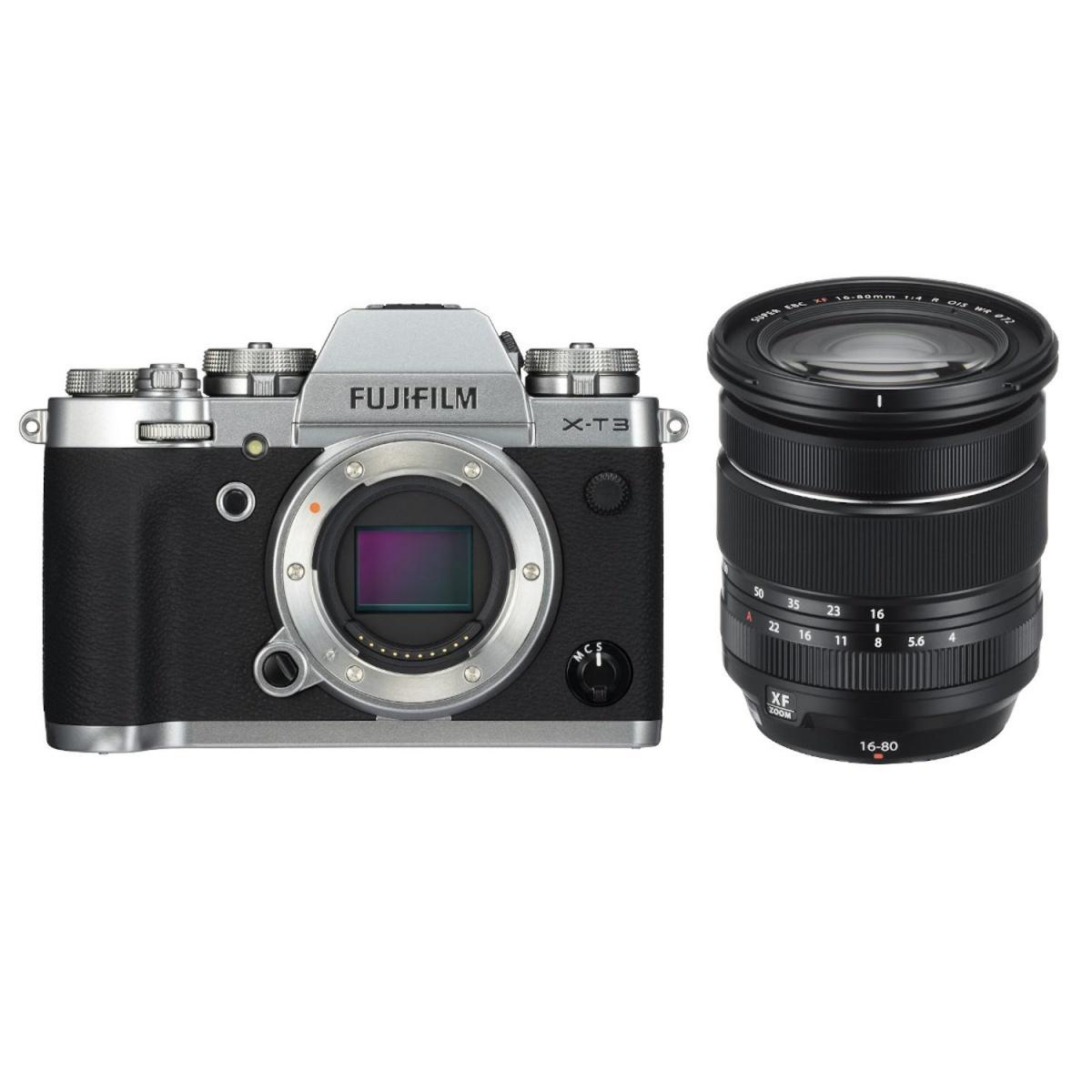 Fujifilm X-T3 Kit mit 16-80 mm 1:4,0 Silber