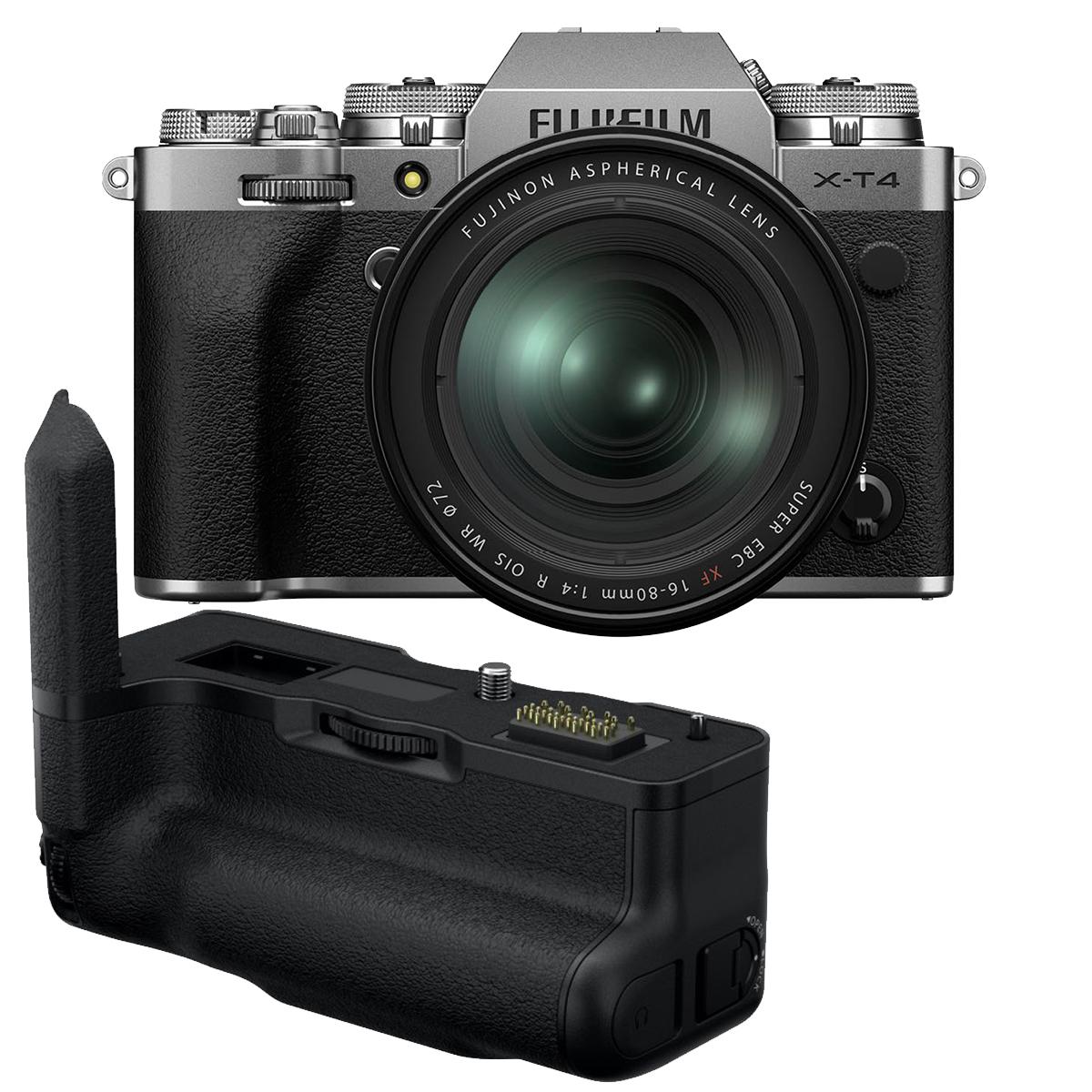 Fujifilm X-T4 Kit mit 16-80 mm + VG-XT4 Handgriff silber