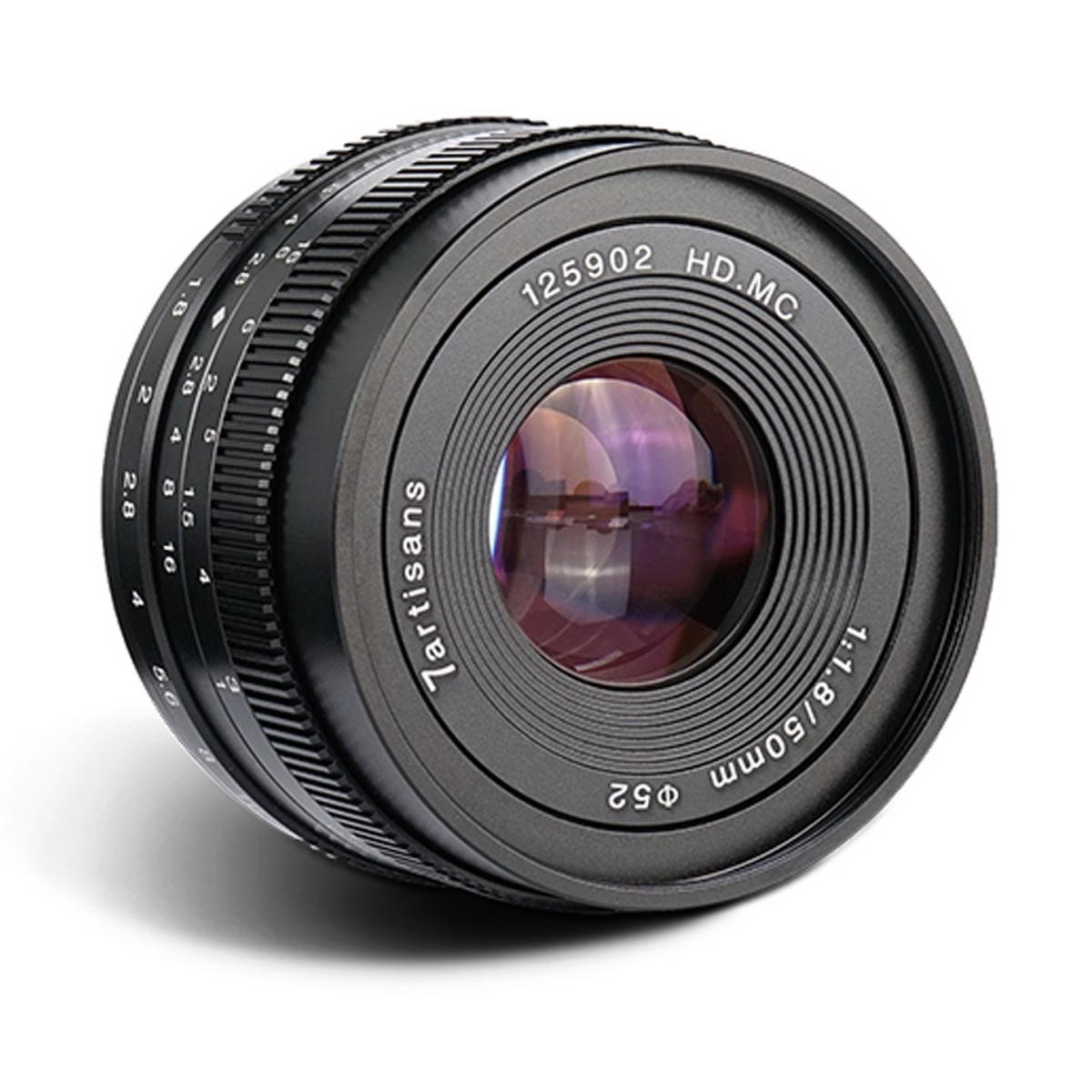 7Artisans 50 mm 1:1,8 für Fujifilm X
