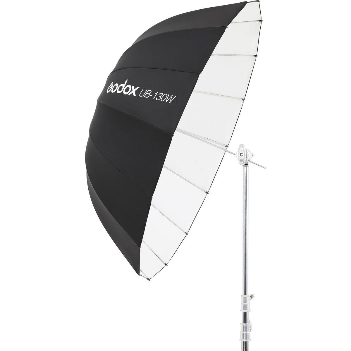 Godox 130 cm Parabolschirm Schwarz / Weiß UB-130W