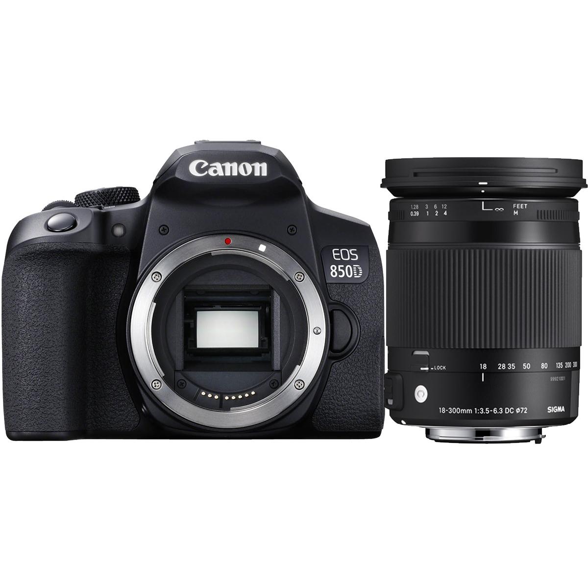 Canon EOS 850D + Sigma 18-300mm 3,5-6,3 DC Makro OS HSM C