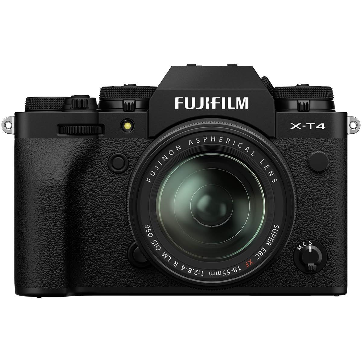 Fujifilm X T4 Kit mit 18-55 mm 1:2,8-4 Schwarz