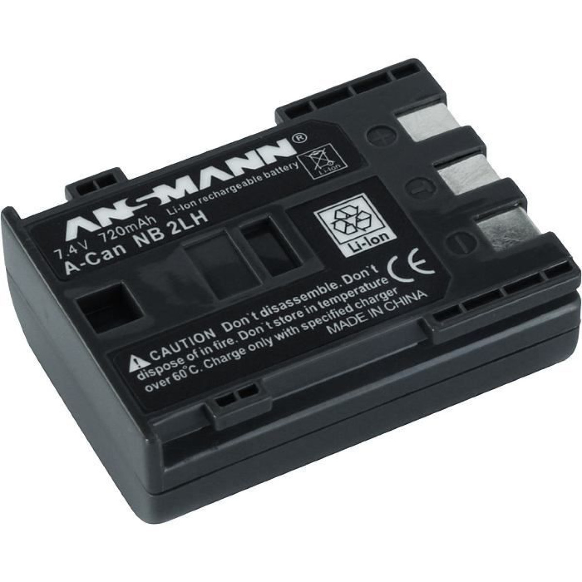 Ansmann NB-2 LH Ersatzakku Canon NB-2LH