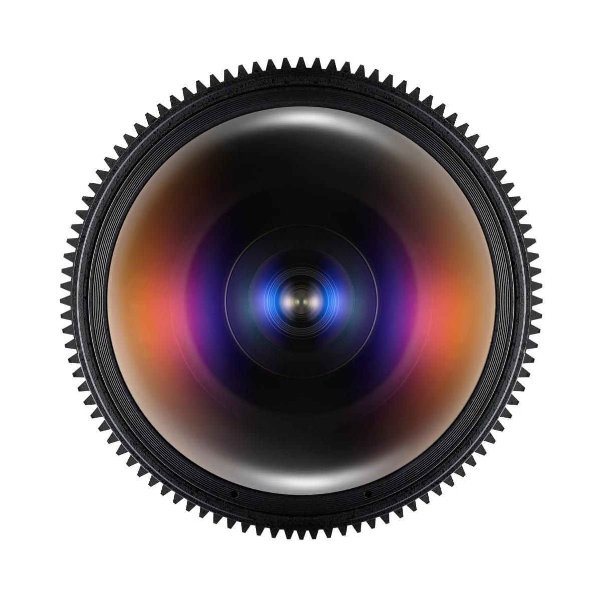 Samyang MF 12 mm 1:3,1 Fisheye Video DSLR für Canon EF