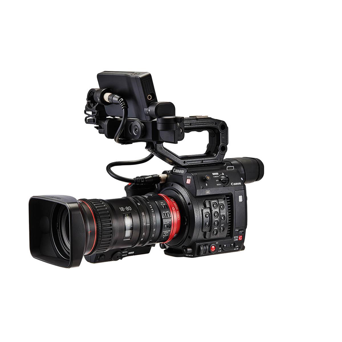 Canon EOS C200 + CN-E 18-80mm T4.4 L IS KAS S