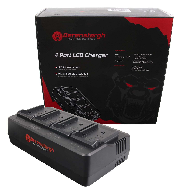 Berenstargh 4-Fach Ladegerät für Sony NP-F960