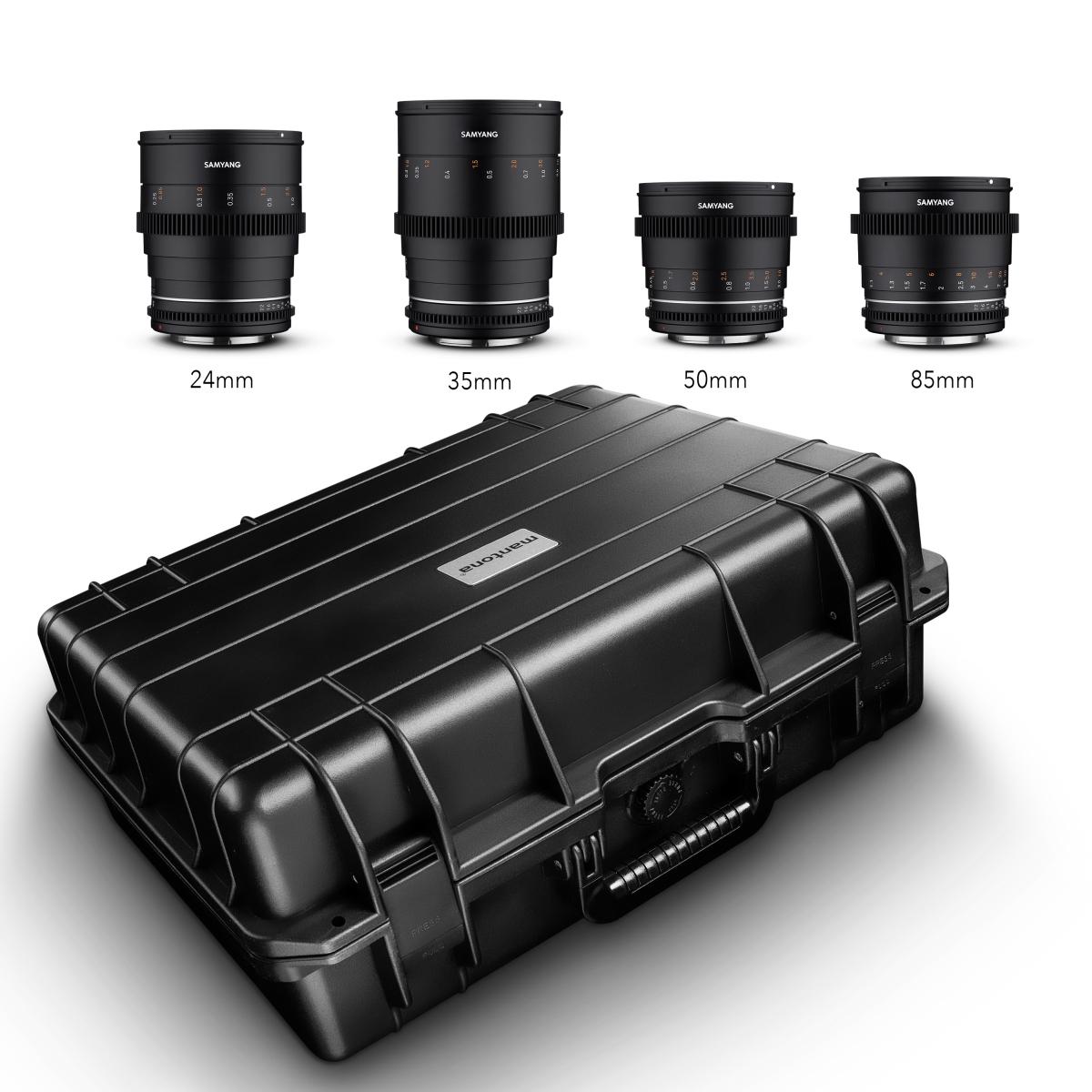 Samyang VDSLR MK2 Kofferset Canon RF