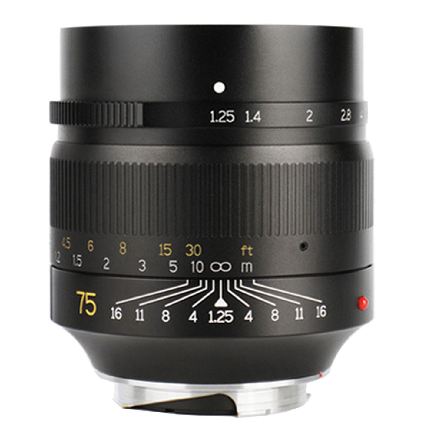 7Artisans 75 mm 1:1,25 für Leica M