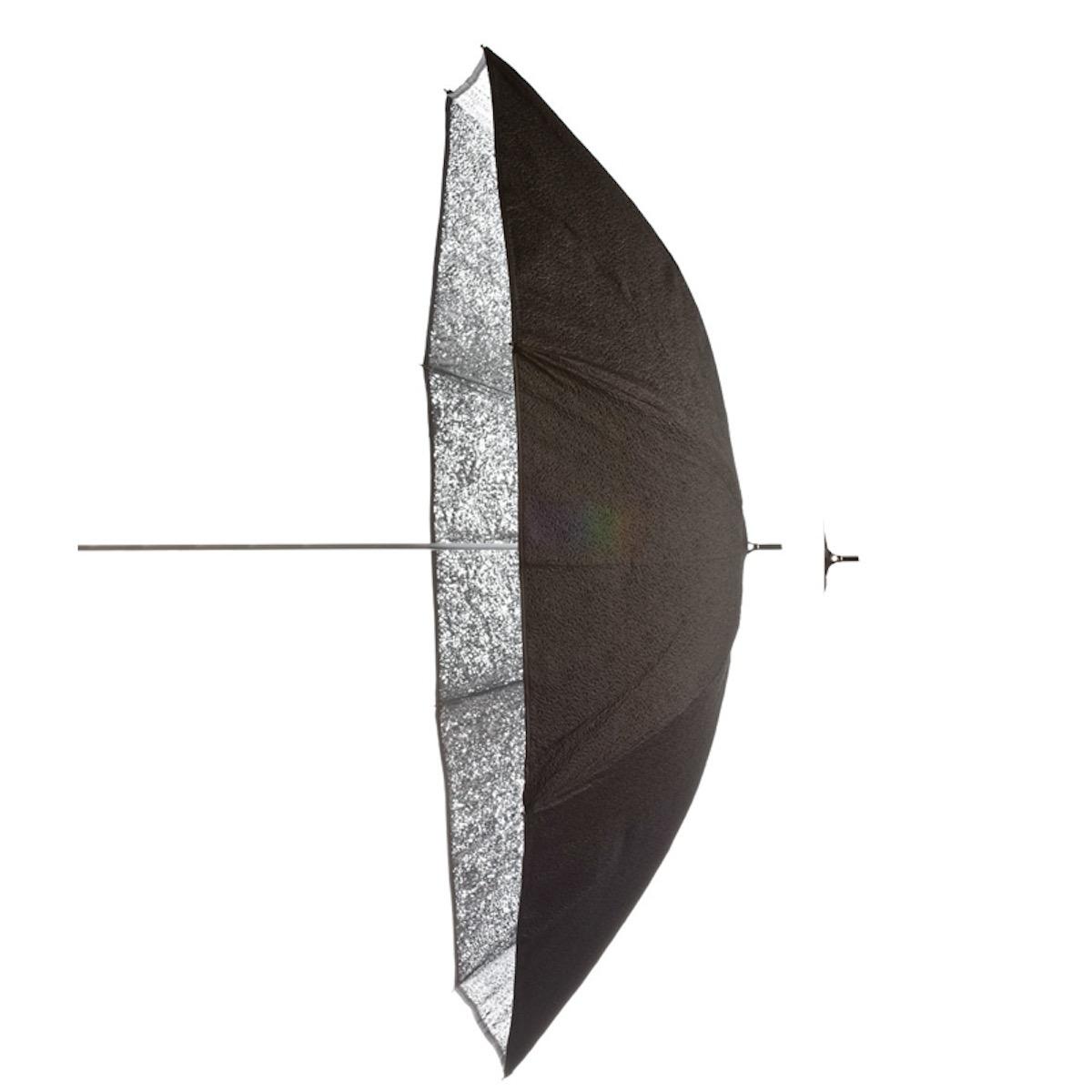 Godox 185cm Blitzschirm Schwarz/Silber