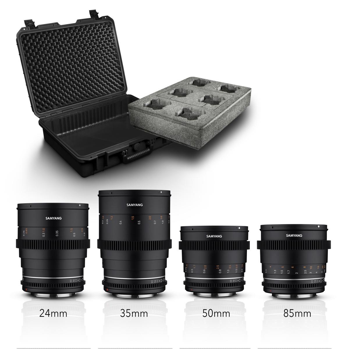Samyang VDSLR MK2 Kofferset für Sony E